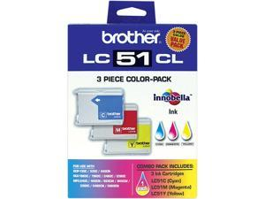 brother LC513PKS Tri-Color Ink Cartridge 3 Colors