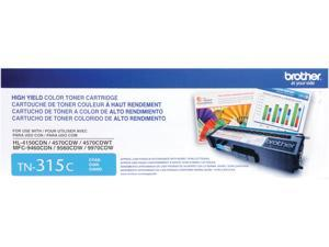 Brother TN315C High Yield Toner Cartridge 3,500 Page Yield&#59; Cyan