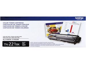 Brother TN221BK Toner Cartridge 2,500 Pages Yield&#59; Black
