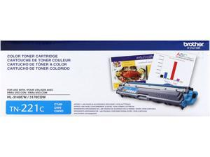 Brother TN221C Toner Cartridge 1,400 Page Yield&#59; Cyan