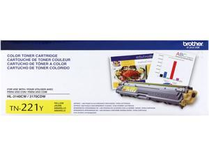 Brother TN221Y Toner Cartridge 1,400 Page Yield&#59; Yellow