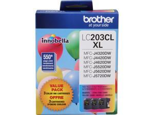 Brother LC203CL XL 3-Pack Innobella High Yield Color Ink Cartridges for MFC-J4620DW&#59; Cyan, Magenta, Yellow (LC2033PK)