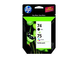 HP 74/75 (CC659FN) Ink Cartridge Combo Pack Includes one HP 74 black cartridge + one HP 75 tricolor cartridge