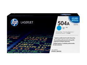 HP 504A Cyan LaserJet Toner Cartridge (CE251A)
