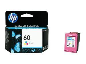 HP 60 (CC643WN#140) Ink Cartridge 165 Page Yield&#59; Tri-color (Cyan, Magenta, Yellow)