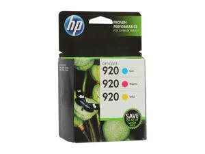 HP 920 Combo-pack Cyan/Magenta/Yellow Officejet Ink Cartridges(CN066FN#140)