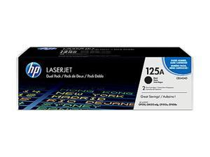 HP CB540AD Color LaserJet CB540A Dual Pack Print Cartridges Black