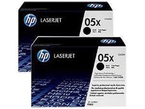 HP 05X Black High Yield 2-Pack LaserJet Toner Cartridges (CE505XD)
