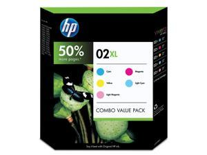 HP 02XL Yellow/Cyan/Magenta/Light Magenta/Light Cyan Print cartridge Combo Pack (CD978BN)