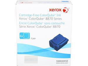 XEROX 108R00950 Genuine Solid Ink for ColorQube 8870,8880 series printer (6 sticks) Cyan