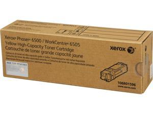 Xerox Toner Cartridge 106R01596 for Phaser 6500, WorkCentre 6505, High Capacity - Yellow