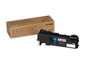 Xerox Toner Cartridge 106R01594 for Phaser 6500, WorkCentre 6505, High Capacity - Cyan