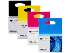 PRIMERA 53606 Ink Cartridge Multi-Pack - includes one each of Cyan, Magenta, Yellow and Black Color