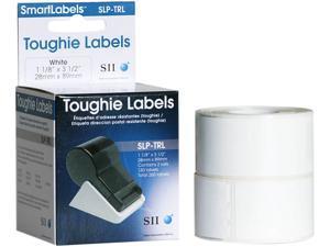 """Seiko SmartLabel SLP-TRL Toughie Address Label1.12"""" Width x 3.5"""" Length - 130/Roll - 0.79"""" CoreRoll - White"""