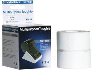 "Seiko SmartLabel SLP-TMRL Toughie Multipurpose Label1.12"" Width x 2"" Length - 220/Roll - 0.79"" Core - 2 Roll - White"