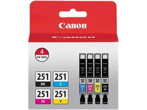 Canon CLI-251 (6513B004) Ink Cartridge&#59; Black, Cyan, Magenta, Yellow