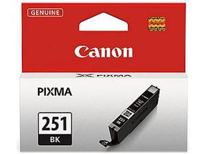 Canon 251 ink CLI-251 BK Black Standard Capacity Ink Cartridge for Canon MX922, MG5520, MG5520, iX6850 printers&#59;(6513B001) - OEM