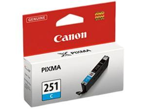 Canon 251 ink CLI-251 C Cyan Standard Capacity Ink Cartridge for Canon MX922, MG5520, MG5520, iX6850 printers&#59;(6514B001)