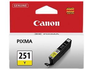 Canon 251 ink CLI-251 Y Yellow Standard Capacity Ink Cartridge for Canon MX922, MG5520, MG5520, iX6850 printers&#59;(6516B001)