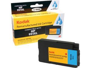 KODAK Remanufactured Ink Cartridge Compatible With HP 951 XL / 951XL (CN046AN) High-Yield Cyan