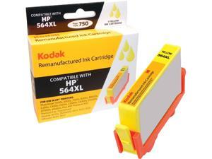 KODAK Remanufactured Ink Cartridge Compatible With HP 564 XL / 564XL (CN687WN) High-Yield Yellow