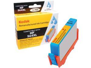 KODAK Remanufactured Ink Cartridge Compatible With HP 564 XL / 564XL (CN685WN) High-Yield Cyan