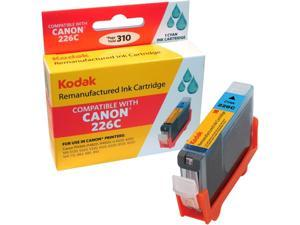 KODAK Remanufactured Ink Cartridge Compatible With Canon 226 / 226C (CLI-226C) High-Yield Cyan