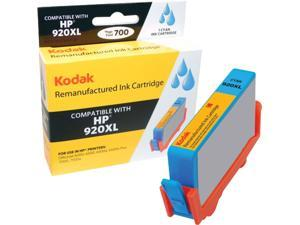 KODAK Remanufactured Ink Cartridge Compatible With HP 920 XL / 920XL (CD972AN) High-Yield Cyan