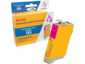 KODAK Remanufactured Ink Cartridge Compatible With Epson 125 / T125 (T125320) High-Yield Magenta