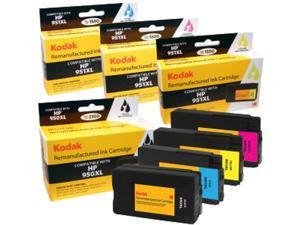 KODAK Remanufactured Ink Cartridge Combo Pack Compatible With HP 950XL / 950 XL (C2P01FN) High-Yield Black, Cyan, Yellow, Magenta