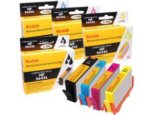 KODAK Remanufactured Ink Cartridge Combo Pack Compatible With HP 564XL / 564 XL (D8J67FN) High-Yield Black, Cyan, Yellow, Magenta