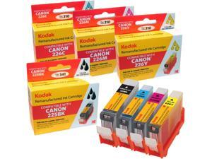 KODAK Remanufactured Ink Cartridge Combo Pack Compatible With Canon PGI-225 / CLI-226 (4530B008) High-Yield Black, Cyan, Yellow, Magenta