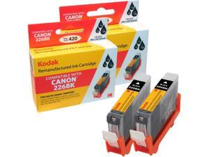 KODAK Remanufactured Ink Cartridge Combo Pack Compatible With Canon CLI-226BK (4530B007) High-Yield 2 Black Cartridges (226)