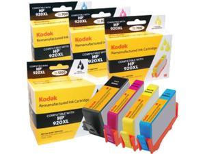 KODAK Remanufactured Ink Cartridge Combo Pack Compatible With HP 920XL / 920 XL (D8J68FN) High-Yield Black, Cyan, Yellow, Magenta