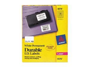 "AVERY 6570 1-1/4"" x 1-3/4"" 480 Labels White Permanent ID Labels"