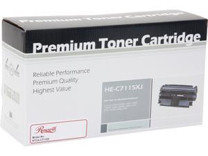 Rosewill RTCA-C7115XJ Black Replacement for HP C7115X(15X) Toner Cartridge Jumbo Yield 8,000 pages