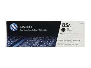 HP 85A (CE285D) Dual Pack LaserJet Toner Cartridges 1,600 Pages Yield per Cartridge&#59; Black