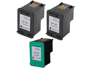 Green Project Compatible Ink Cartridge Replacement for HP - 2 pc. HP 98 (C9364WN) , 1pc.HP 95 (C8766WN) - 3 Pack