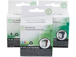 Green Project H-94/95(3pk) Ink Cartridge in Retail Packagings- Combo Pack Replaces HP