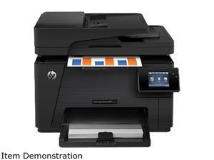 "Hp Factory Recertified Color Laserjet Pro M177fw MFP 17/4 ppm 600 x 600 dpi 150-Sheet 128MB E-Print/Enet/USB/Wifi Color Laser Printer / Copier / Scanner / Fax W/ 3"" Touchscreen"
