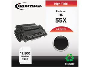 Innovera IVRE255X Black Compatible Remanufactured CE255X (55X) Laser Toner