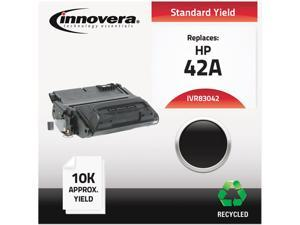 Innovera IVR83042 Black Compatible Remanufactured Q5942A (42A) Laser Toner
