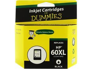 Ink for Dummies DH-60XLBK(CC641WN) Black Ink Cartridge Replaces HP 60XL (CC641WN)