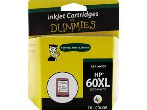 Ink for Dummies DH-60XLCL(CC644WN) 3 Colors Ink Cartridge Replaces HP 60XL (CC644WN)
