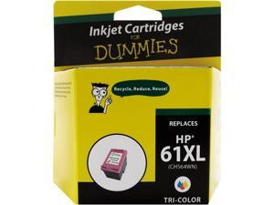 Ink for Dummies DH-61XLCL(CH564WN) 3 Colors Ink Cartridge Replaces HP 61XL (CC564WN)