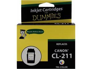 Ink for Dummies DC-CL211CL 3 Colors Ink Cartridge Replaces Canon CL-211 (2976B001)