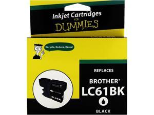 Ink for Dummies DB-LC61BK Black Ink Cartridge Replaces Brother LC-61BK inkjet