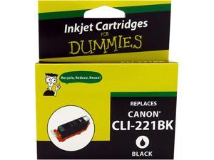 Ink for Dummies DC-CLI221BK Black Ink Cartridge Replaces Canon CLI-221BK