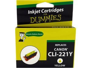 Ink for Dummies DC-CLI221Y Yellow Ink Cartridge Replaces Canon CLI-221Y