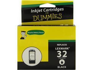 Ink for Dummies DL-18C0032(32) Black Ink Cartridge Replaces Lexmark 18C0032(32)